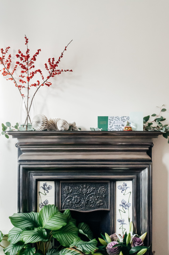 simple christmas decorations boreal abode fireplace
