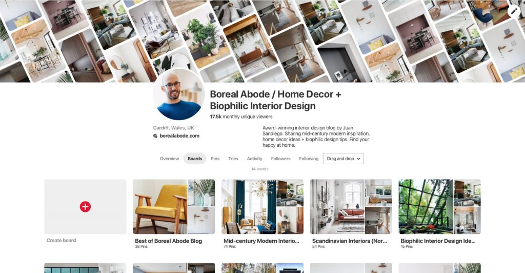 How to design a relaxing bedroom and get better sleep Boreal Abode Mood Board pinterest profile