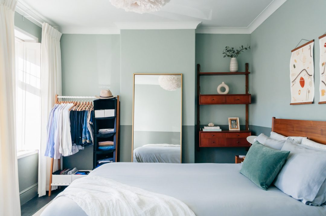 Before After My Green Bedroom Makeover Tour Boreal Abode